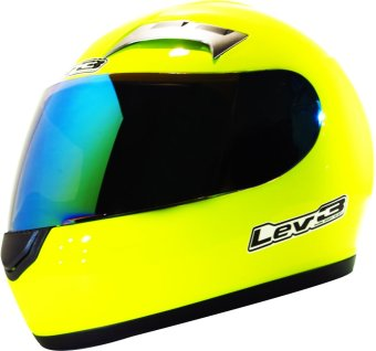 Lev3(R) FullFace BJ-9900 Plain Motorcycle Helmet (Neon/Yellow) Price Philippines