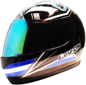 Lev3(R) FullFace BJ-9900 Star Motorcycle Helmet (Black/Blue) Price Philippines