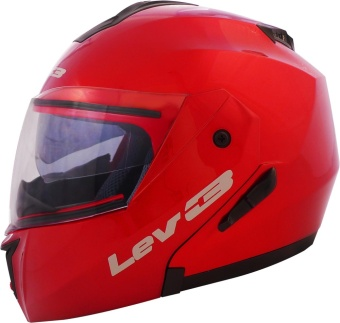 Lev3(R) Modular BJ-5700 Plain Motorcycle Helmet (Red) Price Philippines