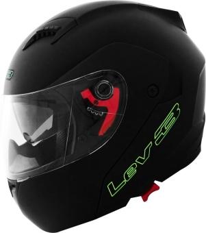 Lev3® Modular BJ-5710 Plain Motorcycle Helmet (Matte/Black)
