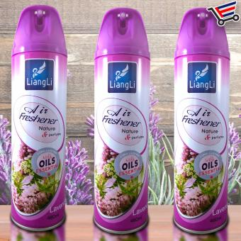 LiangLi Long Lasting Air Freshener Spray Nature and Perfume 480mL(Lavander) Set of 3 Price Philippines