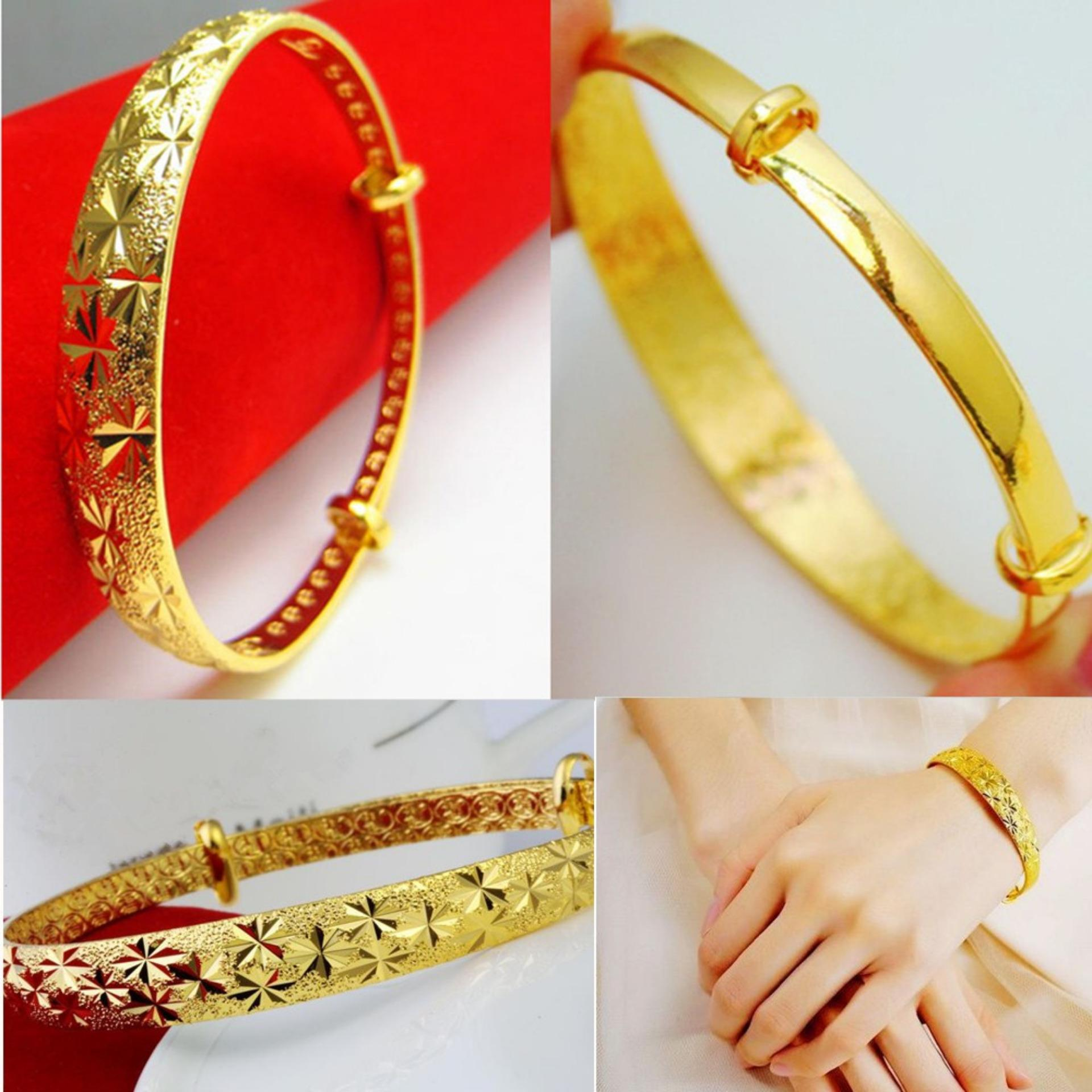 LIFEART Lady s Wedding Jewelry Premium 24K Gold Woman HandcraftAdjustable Bangle &