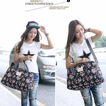 Light Weight Floral Carry OnTravel Duffle Bag Luggage Handbag (Medium) - intl - 5