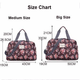 Light Weight Floral Carry OnTravel Duffle Bag Luggage Handbag (Medium) - intl - 3