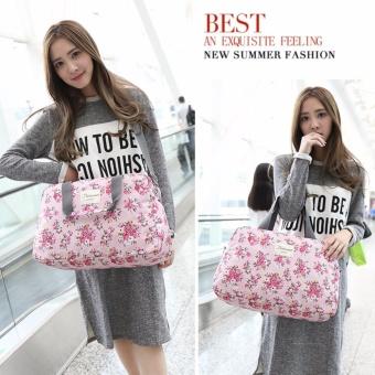 Light Weight Floral Carry OnTravel Duffle Bag Luggage Handbag (Medium) - intl - 4