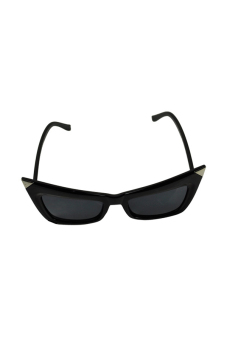 Linemart Retro Cat Eyes Shades Sunglasses (Black) - picture 2