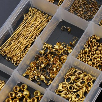 Linsoir Beads 10 Style Jewelry Findings Starter Kit for DIY FashionNecklace Accessories Material - Gold - intl - 3