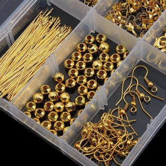 Linsoir Beads 10 Style Jewelry Findings Starter Kit for DIY FashionNecklace Accessories Material - Gold - intl - 2