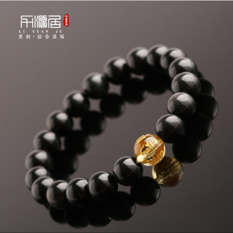 Liyuanju yellow crystal lucky Jianyue models for men and women bracelet
