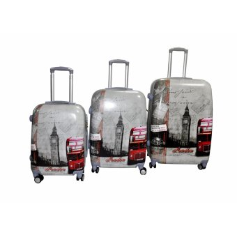 "London2 Hard Case Travel Luggage F-9071 set of 3 size (20""/24""/28"") Price Philippines"