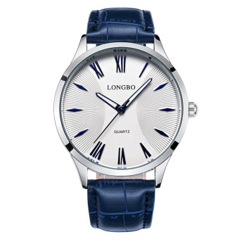 LONGBO New Fashion Lovers Casual Business Leather Belt Quartz Watch Watches Wristwatch 80252 - intl