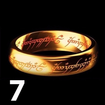 Lord of The Rings' 18k Gold Plated Artifact Ring (Size 7)