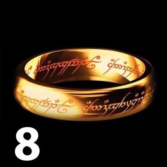 Lord of The Rings' 18k Gold Plated Artifact Ring (Size 8)