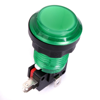 Lots NEW LED Lit Arcade Push Buttons Mame (Green)