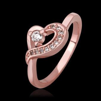 louiwill 2015 New Arrive Korean Retro Feel Sweet Peach Heart Ring Engagement Ring (Pink) (Intl)