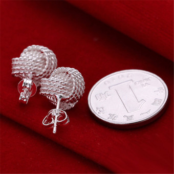 louiwill Fashion Classic Silver Stud Earrings For Women Fashion Jewelry Accessories Gift Brinco Friendship (Silver) (Intl) - picture 2