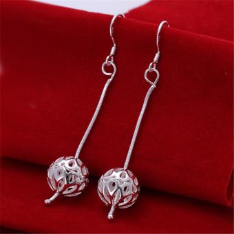 louiwill New 2015 Earrings 925 Silver Long Earrings Women Drop Earrings Party Fashion Brand Jewelry Gift (silver plated) (Intl)