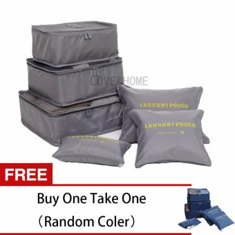 LOVE&HOME 6 in 1 Secret Pouch Travel Organizer Set (Gray) FreeBuy One Take One (Random Color)