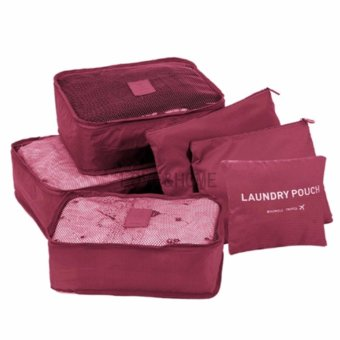 LOVE&HOME 6 in 1 Secret Pouch Travel Organizer Set (Red)