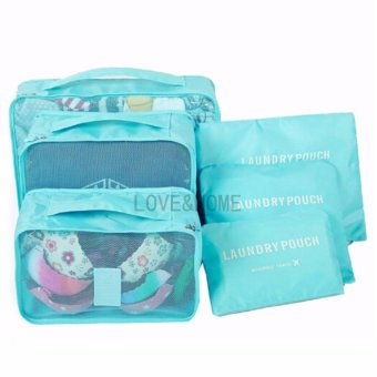 LOVE&HOME 6 in 1 Secret Pouch Travel Organizer Set (Sky Blue)