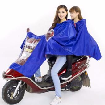 LOVE&HOME High Quality Adults Motorcycle Cycle ScooterWaterproof Double Rain Coat (Blue)