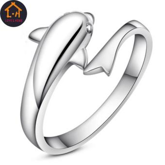 LOVE&HOME Silver Forever Dolphin Opening Adjustable Rings
