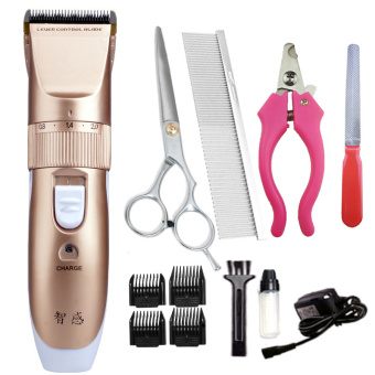 Low-noise pet Electric Clippers Professional dog shaving deviceTeddy's razor-Gold