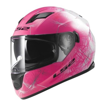 LS2 Full-Face FF320 Wind Helmet (White/Pink)