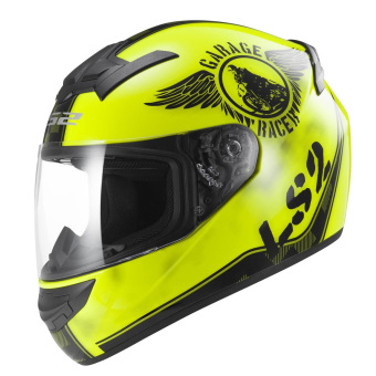 LS2 Full Face FF352 Fan Helmet (Hi-Vis Yellow)