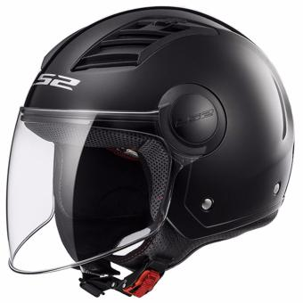 LS2 OF562 Airflow Mono Long Jet Helmet (Gloss Black)