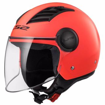 LS2 OF562 Airflow Mono Long Jet Helmet (Matte Orange)