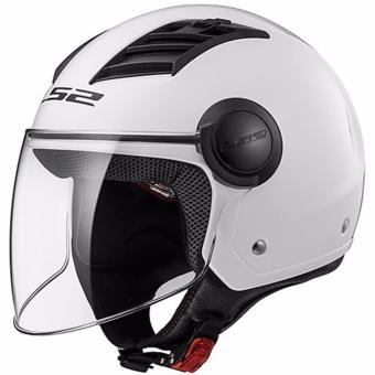 LS2 OF562 Airflow Mono Long Jet Helmet (White)