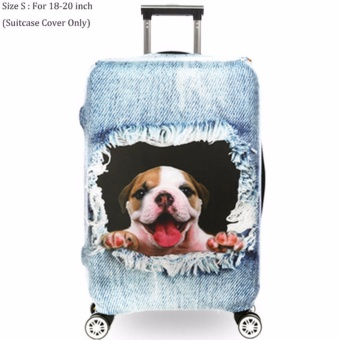 Luggage Protective Cover 3D Animal Prints Suitcase Cover For 18 To20 Inch Luggage Cover Elstic Dust-Proof Bags Case TravelAccessories - intl