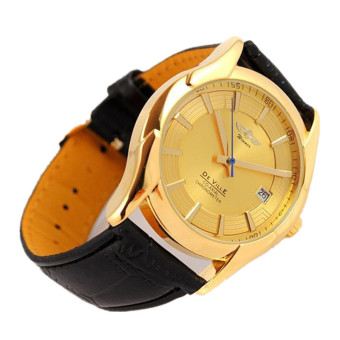 Luxury Mens Mechanical Automatic Calendar Leather Band Wrist Watches Watch