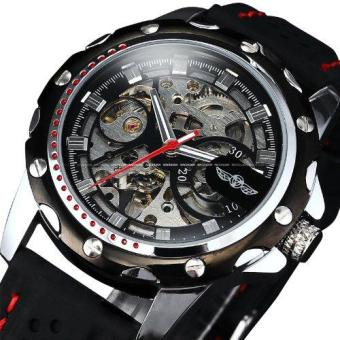 Luxury Sport Watches For Men Skeleton Wrist Watches AutomaticWinding Mechanical Movement (Black Dial) - intl - 2
