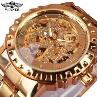 Luxury Top Brand WINNER Men's Watch Automatic Mechanical Skeleton Watches Wholesale - intl