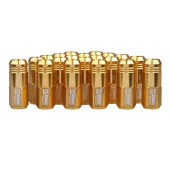 M12 x 1.5mm 20pcs D1-Spec Golden JDM Wheel Lug Nut for Honda CivicIntegra - intl