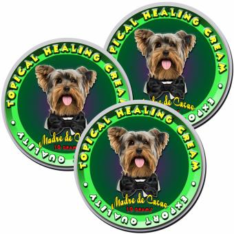 Madre de Cacao Organic Healing Cream for Dogs and Cats 10 grams Set of 3