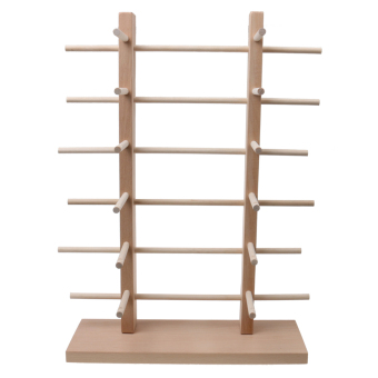 MagiDeal 2-Row 6-Layer Sunglasses Wooden Rack Frame Display Stand Holder - 2