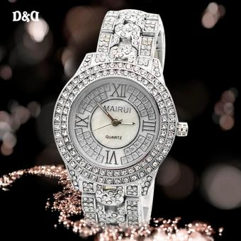 MAIRUI 6070 Diamond Women Fashion Steel-belt Quartz Watch(Silver)