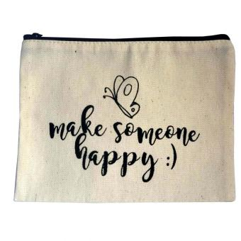 Make Someone Happy Canvas Pouch Price Philippines