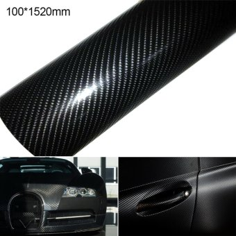 Makiyo 10 * 152 cm 4D Carbon Fiber Vinyl Car Wrap Sheet Roll FilmSticker -Black - intl Price Philippines