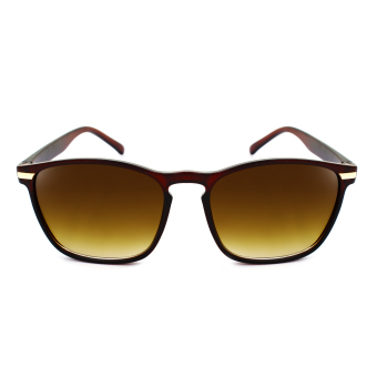 Maldives 107 Rusty Fashion Notch Bridge Square Frame Sunglasses(Gradient Brown/Matte Brown) Price Philippines