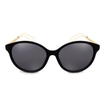 Maldives 16954-Y Evelyn Retro Sunglasses (Matte Black/Gold)