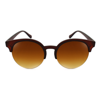 Maldives 268 Kaira Retro Fashion Round Cat Eye Browline Frame Sunglasses (Gradient Brown/Matte Brown) Price Philippines