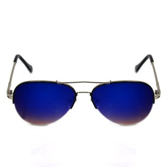 Maldives Elaine Sunglasses 1812 (Navy Blue/Silver)
