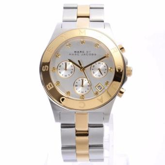 Marc by Marc Jacobs Chronograph Silver Dial Two-tone Women's Watch-MBM3177