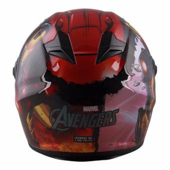 Marvel Full Face Helmet FF1 Avengers Ironman (Red/Gold) - 3