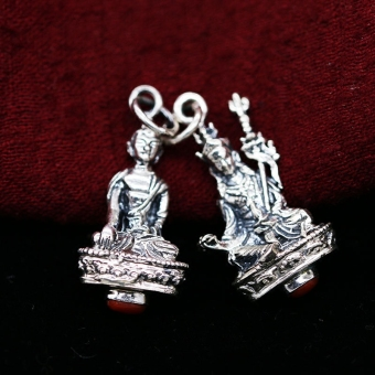Master Nepal 925 sterling silver entirely handmade for making pendant amulet necklace