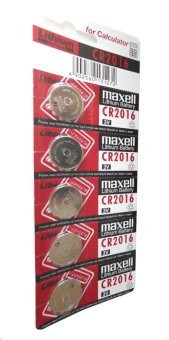 Maxell Lithium Battery CR2016 Pack of 5